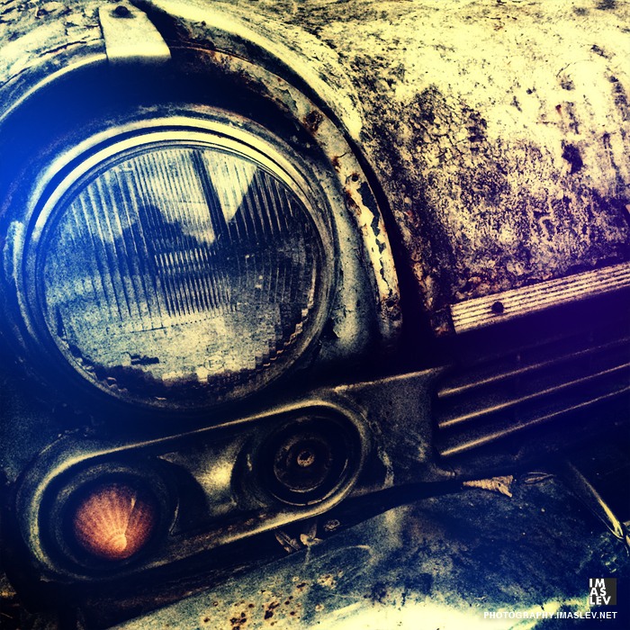 Old car in a yard - photography